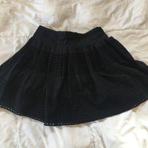 Gap Black Eyelet Mini Skirt EUC
